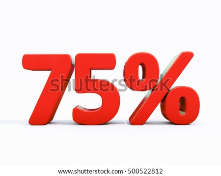75 Percent Discount 3d Sign on White Background, Special Offer 75% Discount Tag, Sale Up to 75 Percent Off, Sale Symbol, Special Offer Label, Sticker, Tag, Banner, Advertising, Badge, Emblem, Web Icon