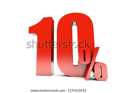 10 Percent off - stock photo