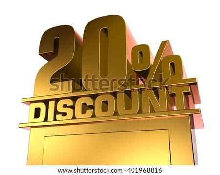 20 percent off discount - stock photo