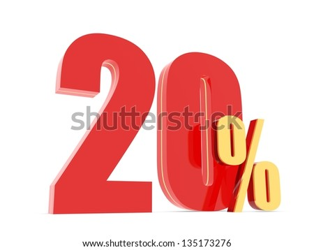 20 Percent off - red symbol