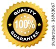 100 percent quality guarantee label - stock photo