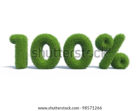 100 percents discount symbol with isolated white background. 3d render - stock photo