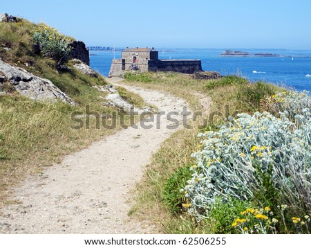 Petit Be fort near Saint-Malo, Brittany, France - stock photo