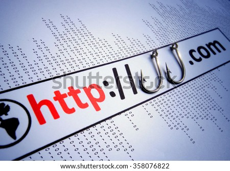 phishing website                               - stock photo