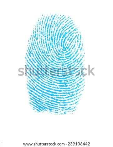photo fingerprint isolation on white background,  with clipping path