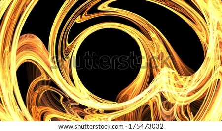 Photo frame. Abstract fractal background