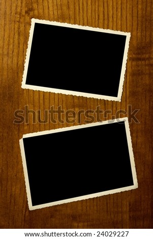Photoframe of an empty photo. - stock photo