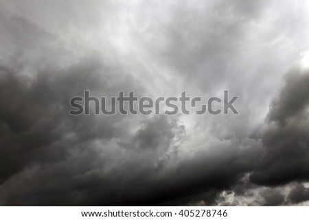 photographed the sky dark gray during stormy weather - stock photo