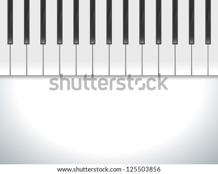 Piano keys viewed, illustration background - stock photo