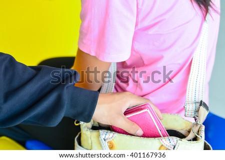 pickpocket  - stock photo