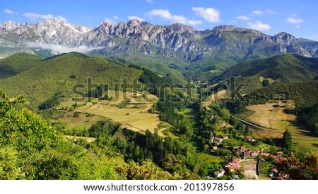 Picos de Europa National Park. Cantabria, Spain - stock photo