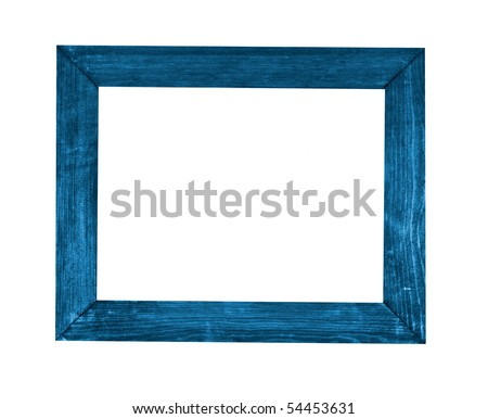 picture frame blue - stock photo