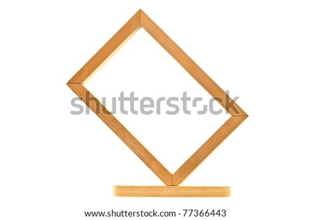picture frame, wood plated, white background, clipping path included 