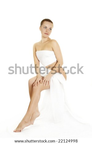 picture of beautiful lady - stock photo