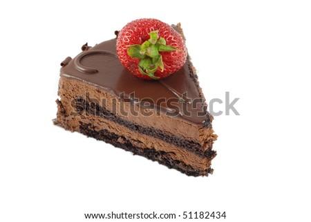 Piece of chocolate cake - stock photo