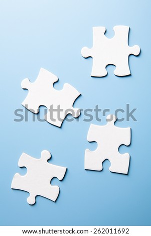 4 pieces of a puzzle