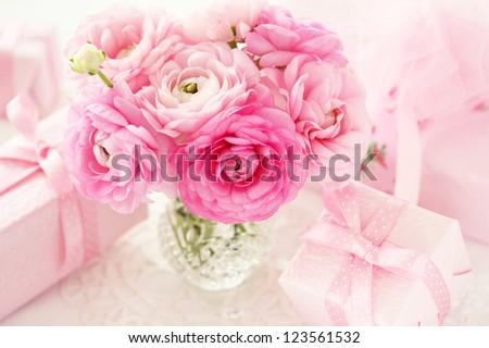 Pink ranunculus - stock photo