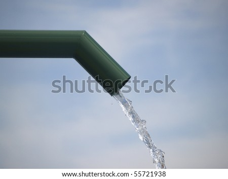 Pipe in aqua park - stock photo