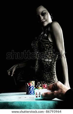 play poker - stock photo