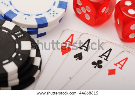 Playing cards with dices