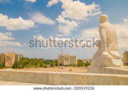 Plaza de la Revolucion in Havana, Cuba on a summer day - stock photo