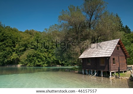 Plitvice National Park UNESCO World Heritage, Croatia - stock photo