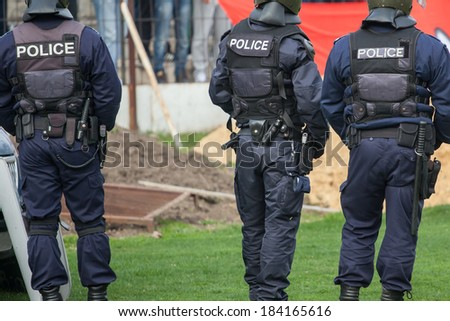 police officers - stock photo