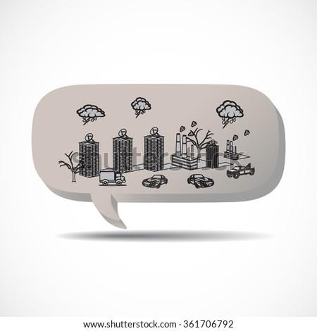 pollution - stock photo