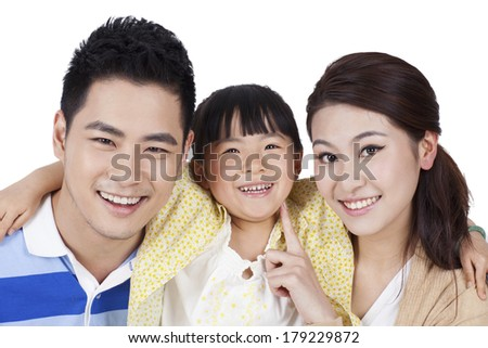 Portrait of a family of three