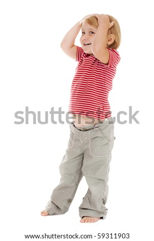 posing little child - stock photo