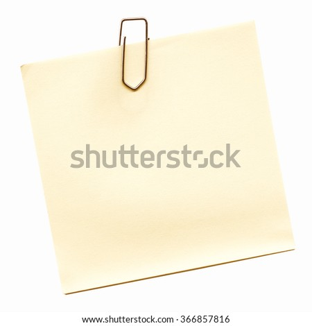 Post it isolated over a white background vintage - stock photo