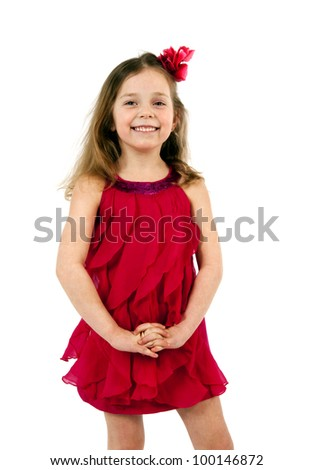 Pretty preschool ballerina - stock photo