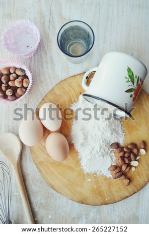 process of making cupcakes,sweets,cake,cooking,kitchen