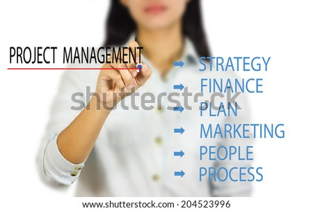 project management - stock photo