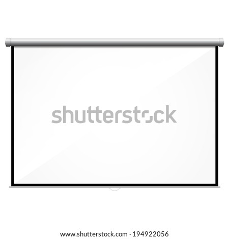 projector screen - stock photo