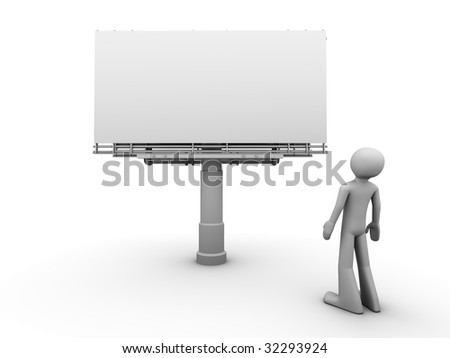 10000px billboard copyspace front view - stock photo