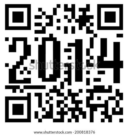 2014 QR code - stock photo