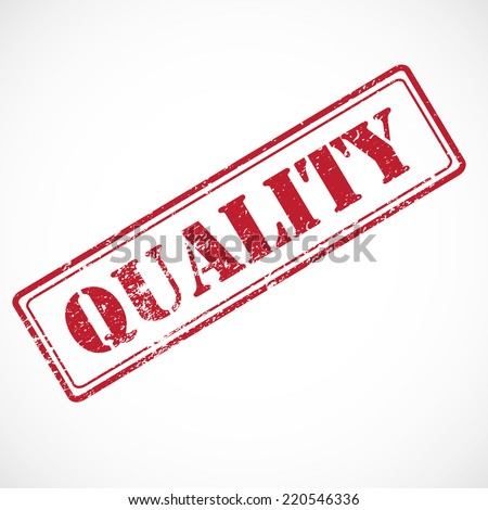 """Quality"" - rubber stamp isolated on white background. - stock photo"