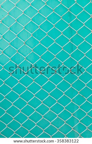 Railing on the blue color background