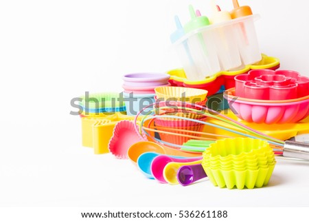 Rainbow silicone confectionery utensils