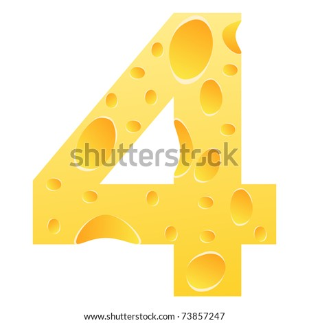 (raster image) number 4 - stock photo