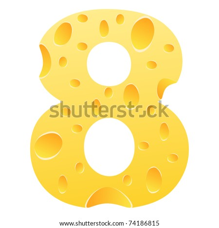 (raster image) number eight - stock photo