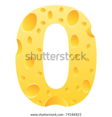 (raster image) number zero - stock photo