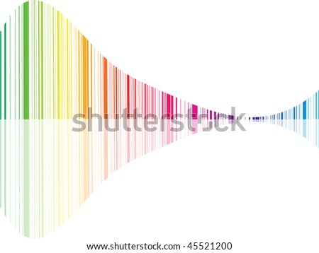 (raster image of vector) abstract design template - stock photo