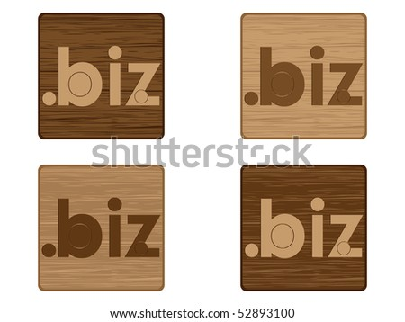 (raster image of vector) biz icon - stock photo