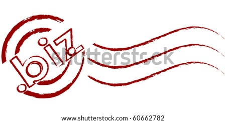 (raster image of vector) business communication stamp - stock photo