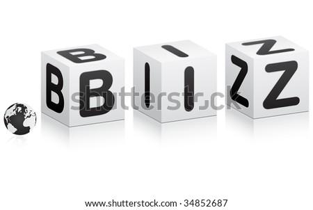 (raster image of vector) business communication vector illustration - stock photo