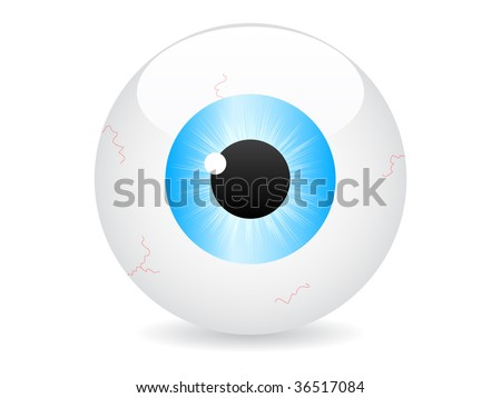 (raster image of vector) eye