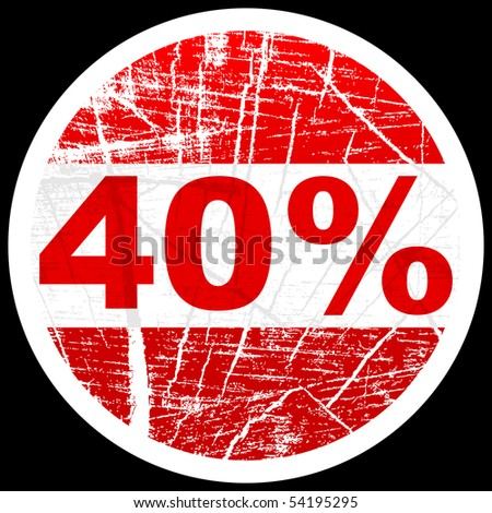 (raster image of vector) forty percent discount
