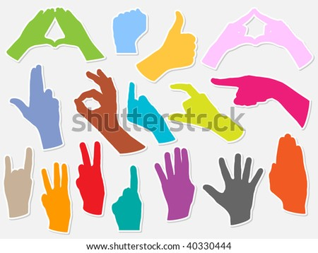 (raster image of vector) hands shape